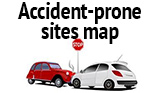 Accident-prone sites map