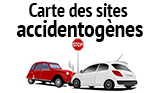 Carte des sites accidentogènes